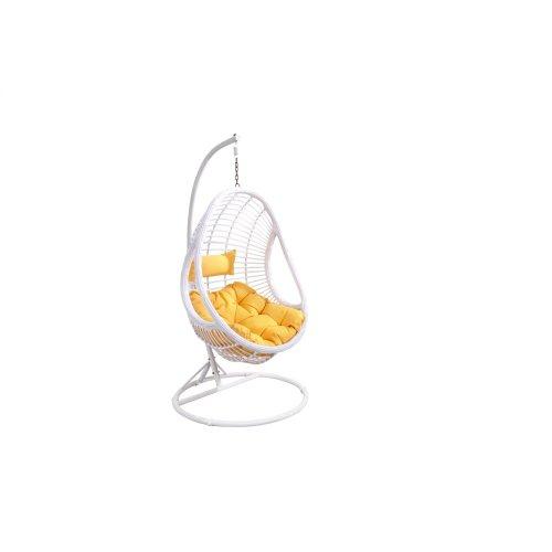 Emerald Home Catalina Hanging Basket Orange W/white Wicker Frame Ou1061-09-01-k