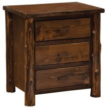 XL Three Drawer Nightstand - Modern Cedar