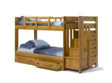 Sunset Trading Rustic Reversible Stairbed with Under Bed Storage Chest