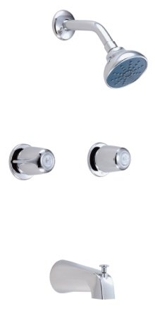Chrome Gerber® Classics Two Handle Tub & Shower Fitting