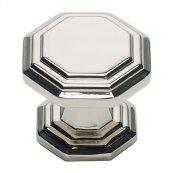 Dickinson Octagon Knob 1 1/4 Inch - Polished Nickel