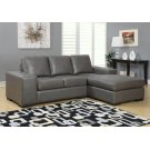 SOFA LOUNGER - CHARCOAL GREY BONDED LEATHER Product Image