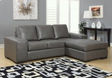 SOFA LOUNGER - CHARCOAL GREY BONDED LEATHER