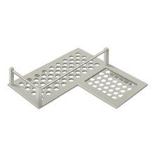 "Bathroom Basket HD Corner Right 9"" - Brushed Nickel"