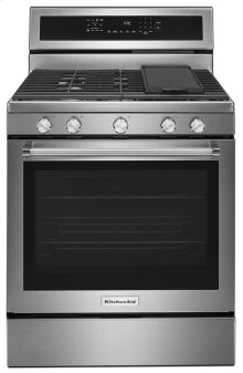 [CLEARANCE] 30-Inch 5-Burner Gas Convection Range - Stainless Steel. Clearance stock is sold on a first-come, first-served basis. Please call (717)299-5641 for product condition and availability.