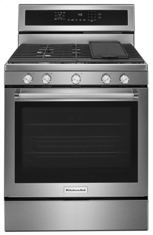 30-Inch 5-Burner Gas Convection Range - Stainless Steel Product Image