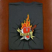 KOG Tattoo Motif American Apparel 2001 Asphalt T-Shirt