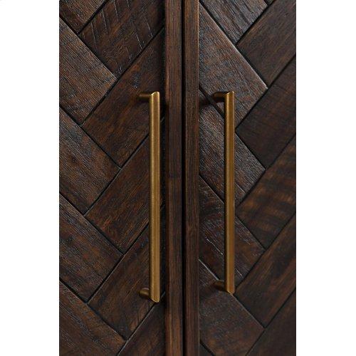 Gramercy Dark Chevron 3 Door Accent Cabinet