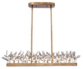 Crystal Garden 6-Light Linear Chandelier