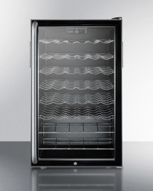 """ADA Compliant 20"""" Wide Wine Cellar for Built-in Use, With Lock, Digital Thermostat, and Full-length Towel Bar Handle"""