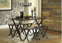 5pc-Rectangular Dinette-Freimore Medium Brown