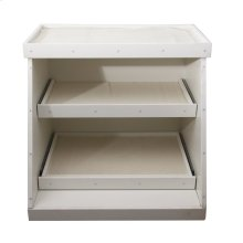 3-Tiered Display Stand for Kitchen Sinks - White