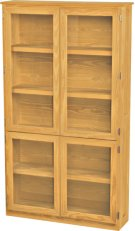 Wide Bookcase, Glass Doors Product Image