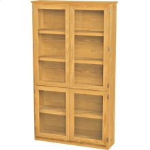 Wide Bookcase, Glass Doors