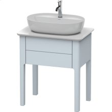 Vanity Unit For Console Floorstanding, Light Blue Satin Matt Lacquer