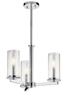 Crosby 3 Light Convertible Chandelier Chrome