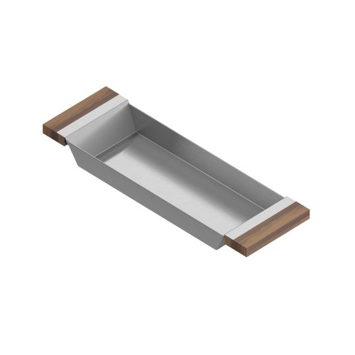 Tray 205222 - Stainless steel sink accessory , Walnut