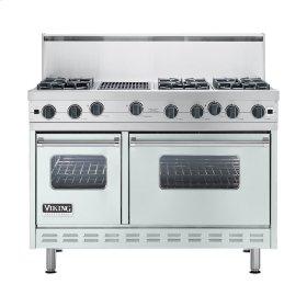 "Sea Glass 48"" Open Burner Commercial Depth Range - VGRC (48"" wide, six burners 12"" wide char-grill)"