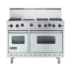 "Sea Glass 48"" Open Burner Commercial Depth Range - VGRC (48"" wide, six burners 12"" wide char-grill)"