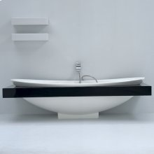 """Soaking bath tub with floor bracket, white acrylic, 76""""W, 33 1/8""""D, 22 7/8""""H, 265 lbs, drain/trap assembly not included. Surround sold separately."""