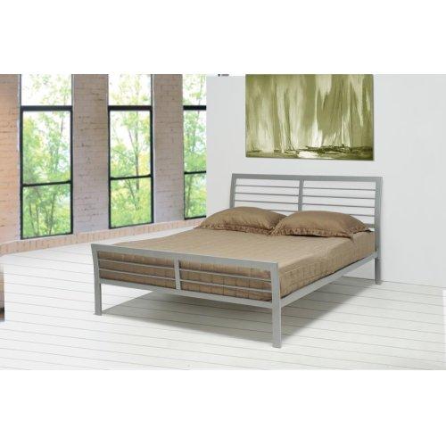 Cooper Contemporary Silver Queen Bed