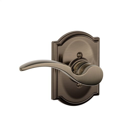 St. Annes Lever with Camelot trim Non-turning Lock - Antique Pewter
