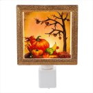 Pumpkin Scene LED Night Light. Product Image