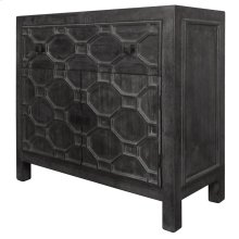 Silvestro Distressed Small Cabinet 1 Drawer + 2 Doors, Antique Black