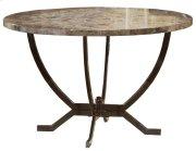 Monaco Round Dining Table Base - Ctn A - Matte Espresso Product Image