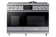 "48"" Pro Dual-Fuel Steam Range, Silver Stainless Steel, Liquid Propane"