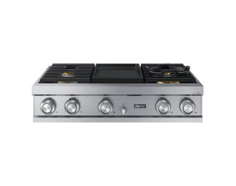 "36"" Rangetop, Silver Stainless Steel, Natural Gas"
