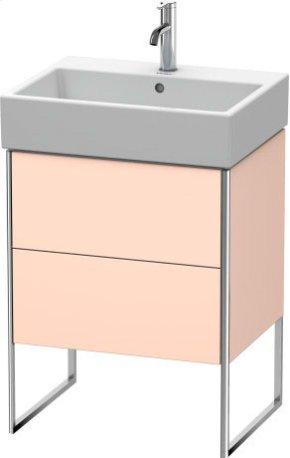 Vanity Unit Floorstanding, Apricot Pearl Satin Matt Lacquer