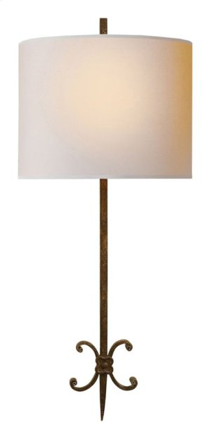 Visual Comfort SK2009NR-NP Suzanne Kasler Roswell 2 Light 11 inch Natural Rusted Iron Decorative Wall Light in Natural Paper