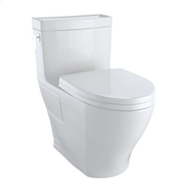 Aimes® One-Piece Toilet, 1.28GPF, Elongated Bowl - Washlet®+ Connection - Colonial White