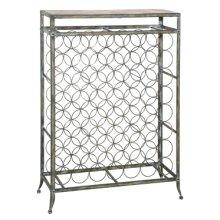 Driftwood Iron Wine Rack - Large