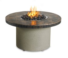 Falcon Gray Circular Fire Pit with Refreshment Bowl