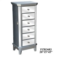 Sterling Silver and Mirror Jewelry Armoire