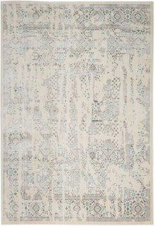 Silver Screen Ki343 Ivory/teal Rectangle Rug 5'3'' X 7'3''