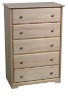 Pine 5 Drawer Chest Product Image