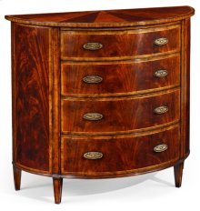 Mahogany Demilune Chest Drawers