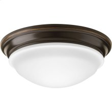 """One-Light 12-1/2"""" Frosted Glass LED Flush Mount"""