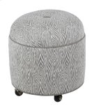 Round Ottoman with Center Button Top/Casters Product Image