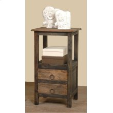 CC-TAB168TT-BWRW  Cottage Two Drawer End Table