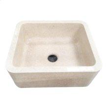 "Chandra Single Bowl Marble Farmer Sink - 30"""