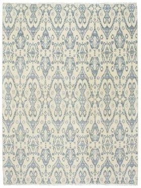 Siam-Ikat Ivory Blue