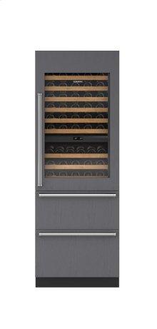 "30"" Designer Wine Storage with Refrigerator/Freezer Drawers - Panel Ready"