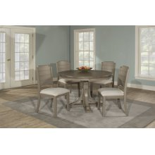 Clarion 5-piece Round Dining Set With Side Chairs - Distressed Gray