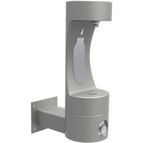 Elkay Outdoor EZH2O Bottle Filling Station Wall Mount, Non-Filtered Non-Refrigerated Gray
