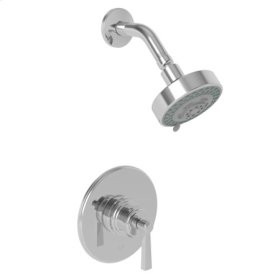 Antique-Brass Balanced Pressure Shower Trim Set