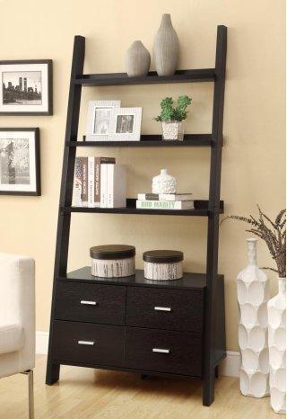 Ladder Bookcase w/ Storage